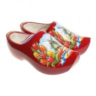 Red Dutch Tulip Wooden Shoes